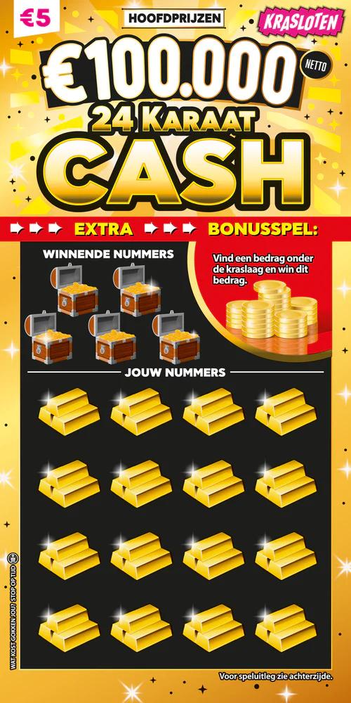 Krasloten - 24 Karaat Cash