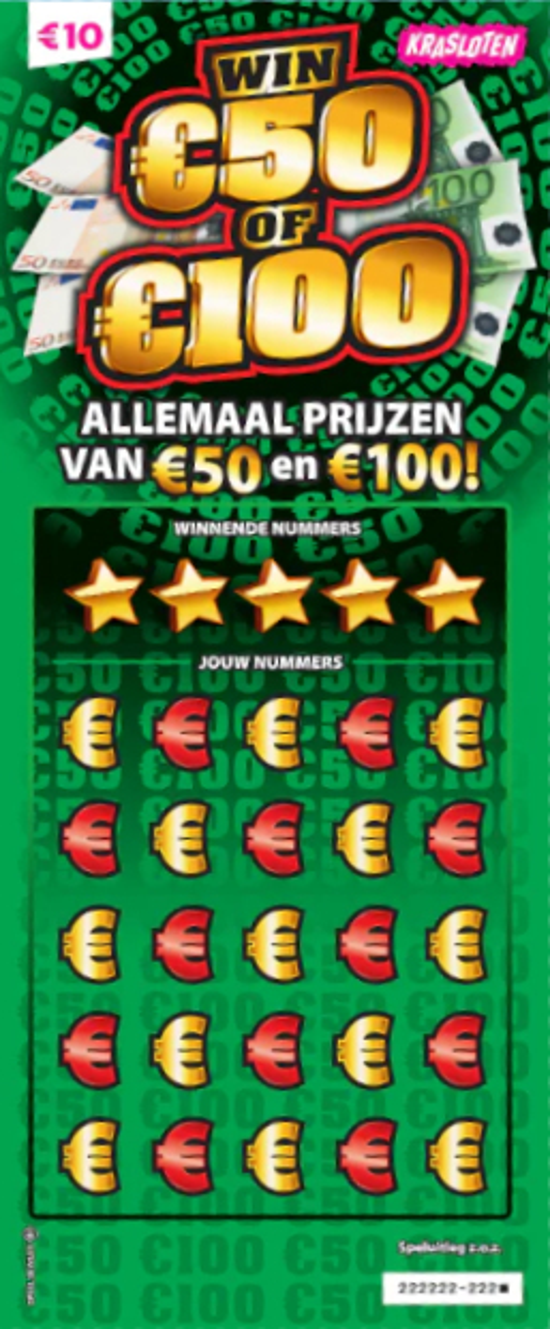 Krasloten - Win 50-100