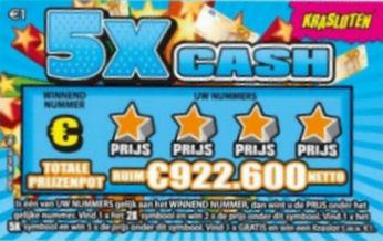 Krasloten - 5x Cash