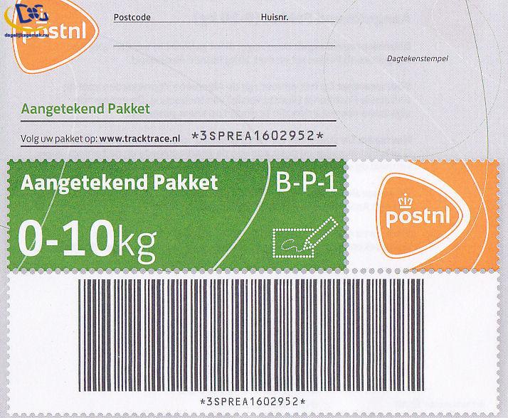 Aangetekende 10kg pakketzegel