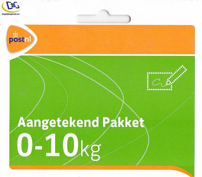 5x - Aangetekende 10kg pakketzegel