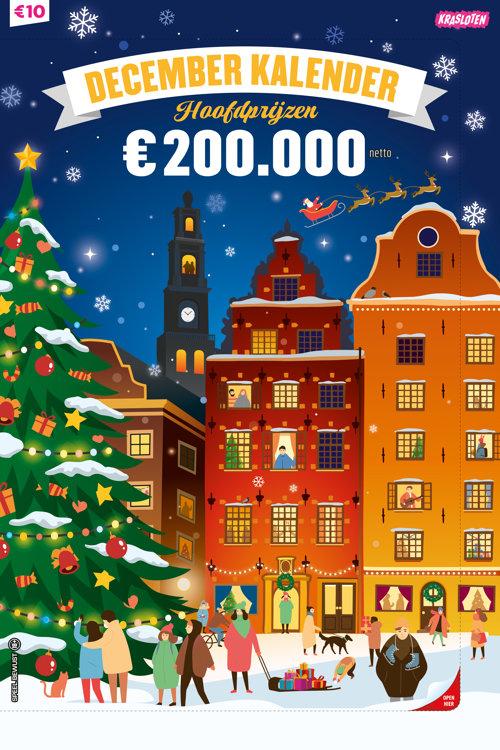 Krasloten - 10 Euro December Kalender