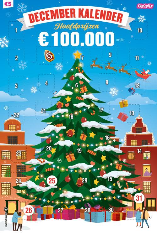 Krasloten - 5 Euro December Kalender