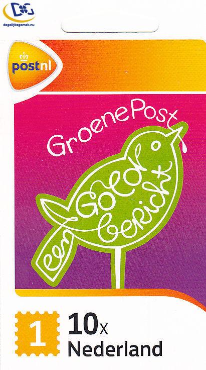 Groen 1 postzegel