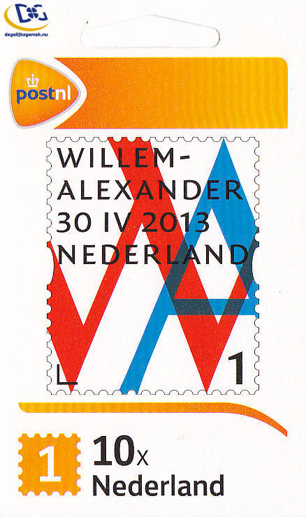 Willem Alexander 1 postzegel