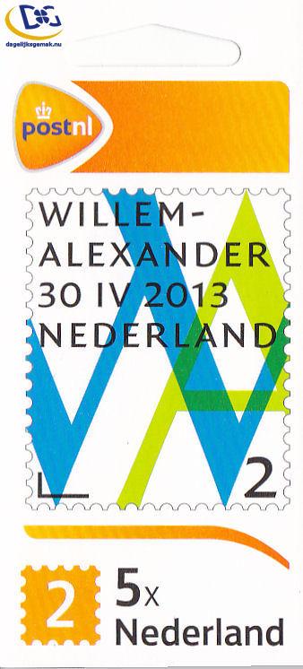 Willem Alexander 2 postzegel