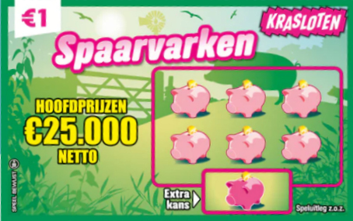 Krasloten - Spaarvarken