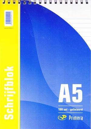 Schrijfblok, Spiraal Boven - A5
