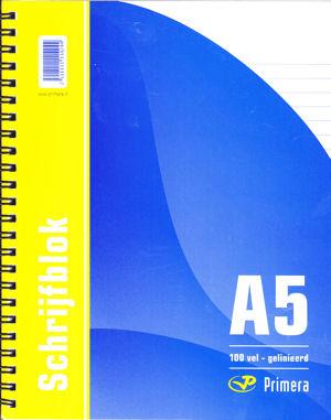 Schrijfblok, Spiraal Links - A5